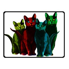 Cats Fleece Blanket (small) by Valentinaart
