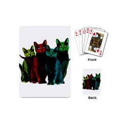 Cats Playing Cards (mini)  by Valentinaart