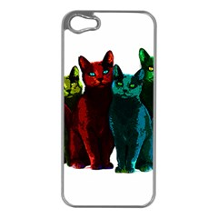 Cats Apple Iphone 5 Case (silver) by Valentinaart