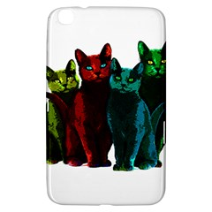 Cats Samsung Galaxy Tab 3 (8 ) T3100 Hardshell Case  by Valentinaart