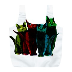 Cats Full Print Recycle Bags (l)  by Valentinaart