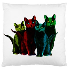 Cats Standard Flano Cushion Case (one Side) by Valentinaart