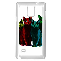Cats Samsung Galaxy Note 4 Case (white) by Valentinaart