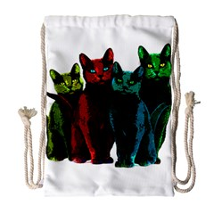 Cats Drawstring Bag (large) by Valentinaart