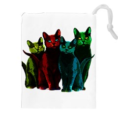 Cats Drawstring Pouches (xxl) by Valentinaart