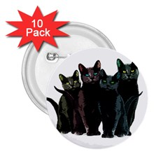 Cats 2 25  Buttons (10 Pack)  by Valentinaart