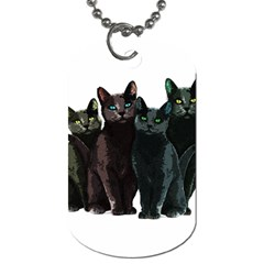 Cats Dog Tag (two Sides) by Valentinaart