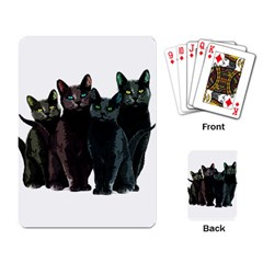 Cats Playing Card by Valentinaart