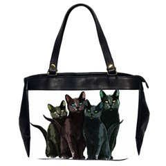 Cats Office Handbags (2 Sides)  by Valentinaart