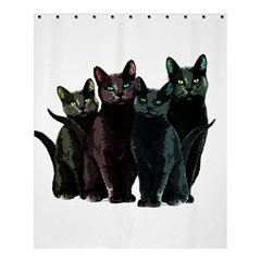 Cats Shower Curtain 60  X 72  (medium)  by Valentinaart