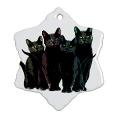 Cats Ornament (snowflake) by Valentinaart