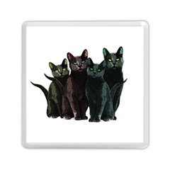 Cats Memory Card Reader (square)  by Valentinaart
