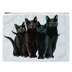 Cats Cosmetic Bag (xxl)  by Valentinaart