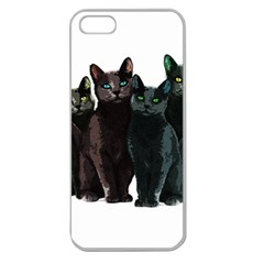 Cats Apple Seamless Iphone 5 Case (clear) by Valentinaart