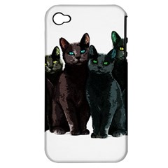 Cats Apple Iphone 4/4s Hardshell Case (pc+silicone) by Valentinaart