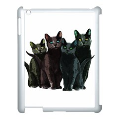 Cats Apple Ipad 3/4 Case (white) by Valentinaart