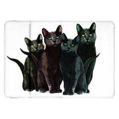 Cats Samsung Galaxy Tab 8 9  P7300 Flip Case by Valentinaart