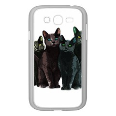 Cats Samsung Galaxy Grand Duos I9082 Case (white) by Valentinaart