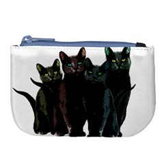 Cats Large Coin Purse by Valentinaart
