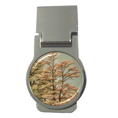 Landscape Scene Colored Trees At Glacier Lake  Patagonia Argentina Money Clips (round)  by dflcprints