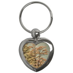 Landscape Scene Colored Trees At Glacier Lake  Patagonia Argentina Key Chains (heart)  by dflcprints