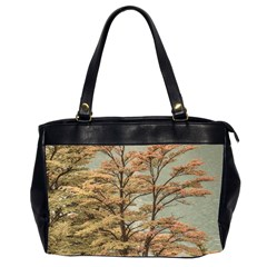 Landscape Scene Colored Trees At Glacier Lake  Patagonia Argentina Office Handbags (2 Sides)  by dflcprints