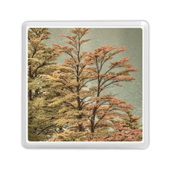 Landscape Scene Colored Trees At Glacier Lake  Patagonia Argentina Memory Card Reader (square)  by dflcprints