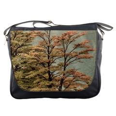 Landscape Scene Colored Trees At Glacier Lake  Patagonia Argentina Messenger Bags by dflcprints