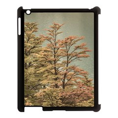 Landscape Scene Colored Trees At Glacier Lake  Patagonia Argentina Apple Ipad 3/4 Case (black) by dflcprints