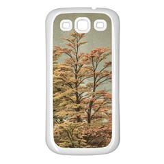 Landscape Scene Colored Trees At Glacier Lake  Patagonia Argentina Samsung Galaxy S3 Back Case (white) by dflcprints