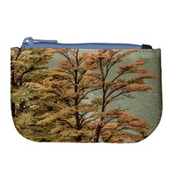 Landscape Scene Colored Trees At Glacier Lake  Patagonia Argentina Large Coin Purse by dflcprints