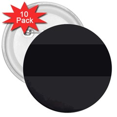 Gray And Black Thick Stripes 3  Buttons (10 Pack)  by theunrulyartist