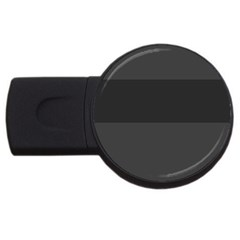 Gray And Black Thick Stripes Usb Flash Drive Round (4 Gb)