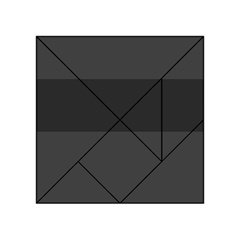 Gray And Black Thick Stripes Acrylic Tangram Puzzle (4  X 4 ) by theunrulyartist