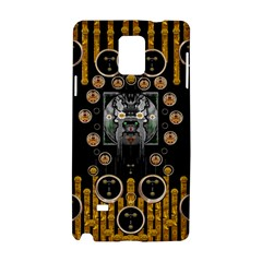 Foxy Panda Lady With Bat And Hat In The Forest Samsung Galaxy Note 4 Hardshell Case by pepitasart