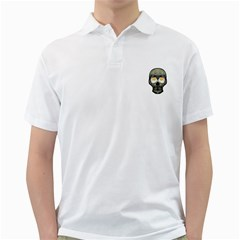 Skull With Fried Egg Eyes Golf Shirts by dflcprints