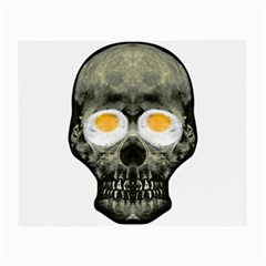 Skull With Fried Egg Eyes Small Glasses Cloth by dflcprints