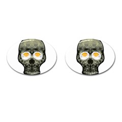 Skull With Fried Egg Eyes Cufflinks (oval) by dflcprints