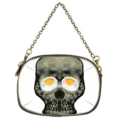 Skull With Fried Egg Eyes Chain Purses (one Side)  by dflcprints
