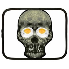 Skull With Fried Egg Eyes Netbook Case (xxl)  by dflcprints