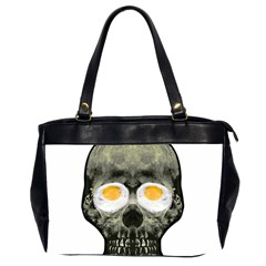 Skull With Fried Egg Eyes Office Handbags (2 Sides)  by dflcprints