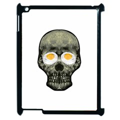 Skull With Fried Egg Eyes Apple Ipad 2 Case (black) by dflcprints