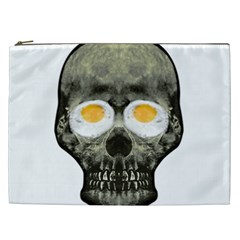 Skull With Fried Egg Eyes Cosmetic Bag (xxl)  by dflcprints