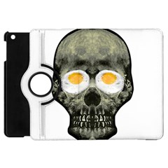 Skull With Fried Egg Eyes Apple Ipad Mini Flip 360 Case by dflcprints