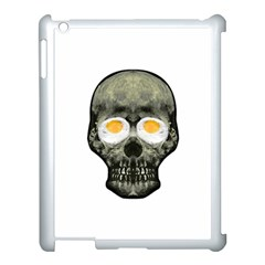 Skull With Fried Egg Eyes Apple Ipad 3/4 Case (white) by dflcprints