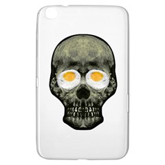 Skull With Fried Egg Eyes Samsung Galaxy Tab 3 (8 ) T3100 Hardshell Case  by dflcprints