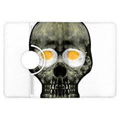 Skull With Fried Egg Eyes Kindle Fire Hdx Flip 360 Case by dflcprints