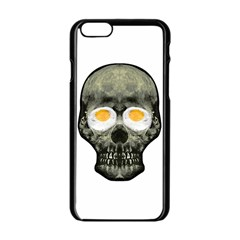Skull With Fried Egg Eyes Apple Iphone 6/6s Black Enamel Case by dflcprints