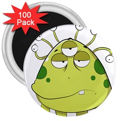 The Most Ugly Alien Ever 3  Magnets (100 Pack) by Catifornia