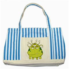 The Most Ugly Alien Ever Striped Blue Tote Bag by Catifornia